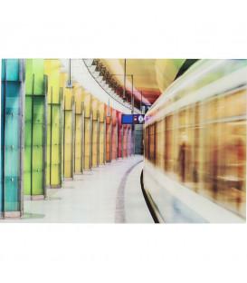 Cuadro cristal Platform Light Show 80x120cm