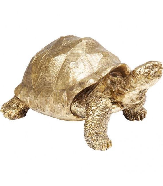 Figura decorativa Turtle oro mediano