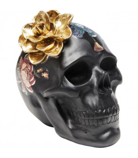 Objeto decorativo Flower Skull 22cm