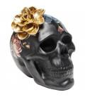 Objeto decorativo Flower Skull 22cm