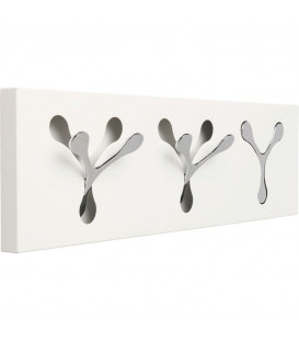 Perchero pared Spoon blanco Tre