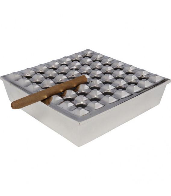 Cenicero Soho Square plata 25x25cm