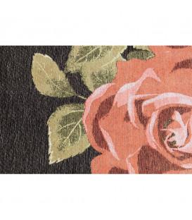 Alfombra rosas negro 240x170cm