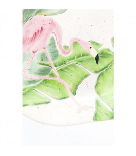 Plato Flamingo Holidays Oval 40cm