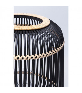 Portavelas Bamboo negro 42cm