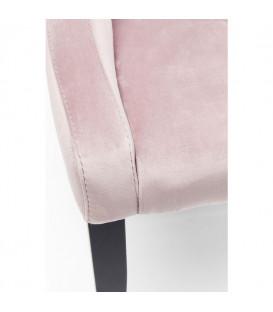 Silla Black Mode Velvet rosa