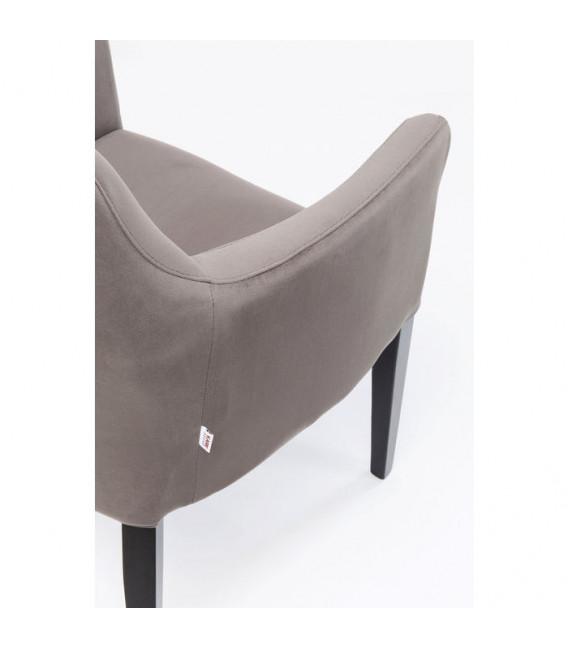 Silla reposabrazos black Mode Velvet gris