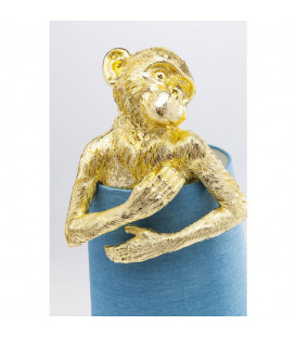 Lámpara mesa Animal Monkey oro azul