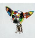 Cuadro óleo Chihuahua 100x100 cm