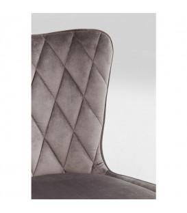 Silla Black Marshall Velvet gris