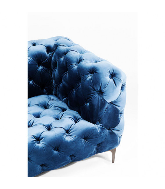 Sofá Look 180cm Velvet azul