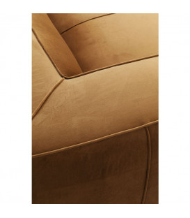 Sofá Cubetto Velvet marrón 2,5 pl