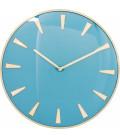 Reloj de pared Malibú azul claro Ø40cm