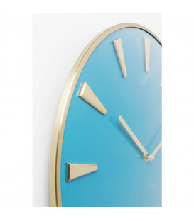 Reloj pared Malibú azul claro Ø40cm