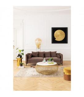 Sofá clásico Variete marrón 3p