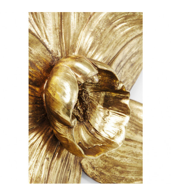 Decoración de pared Orquídea Oro 44cm
