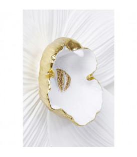 Decoración de pared Orquídea blanca 54cm