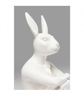 Figura decorativa Gangster Rabbit blanco