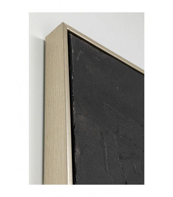Cuadro Abstract Deep negro 80x80cm