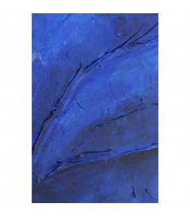 Cuadro Abstract Deep azul 80x80cm