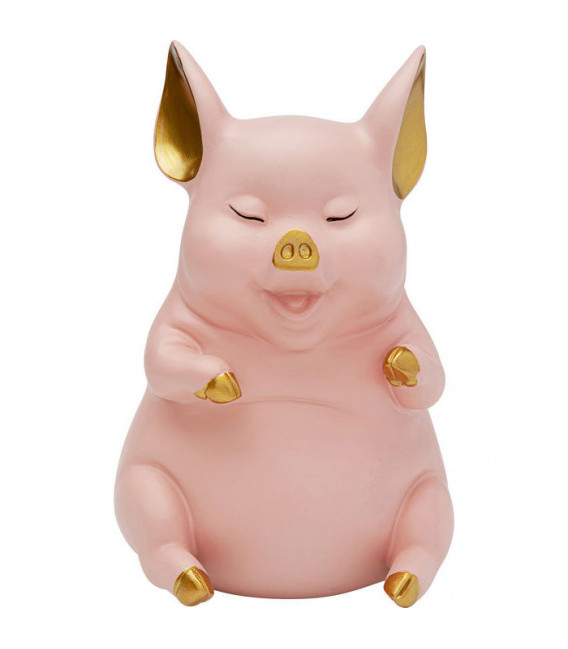 Hucha Happy Pig Rosa Sentado