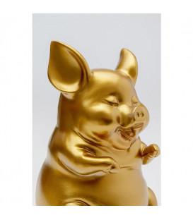 Hucha Happy Pig Oro Sentado