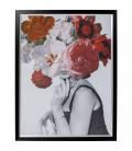 Cuadro Flower Lady 152x117cm
