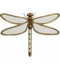 Decoración de pared espejo libélula grande