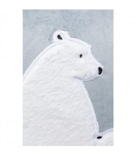Cojín Familia Osos Polares 50x28cm