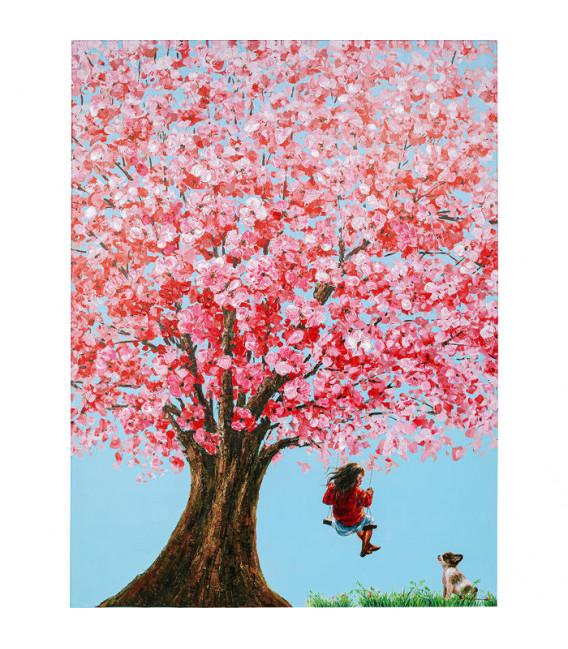 Cuadro Flower Girl 160x120cm