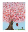 Cuadro Flower Girl 100x80cm