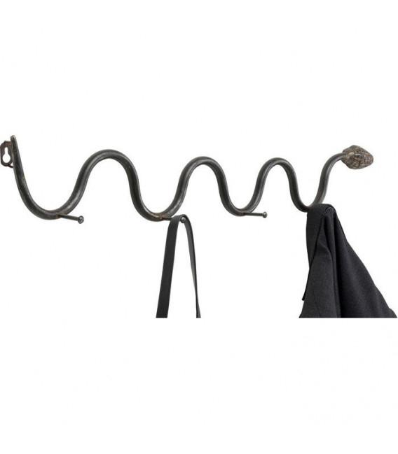 Perchero pared Snake negro