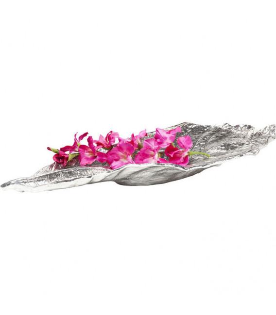 Fuente decorativa Leaf cromo grande