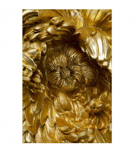 Decoración pared Peony oro