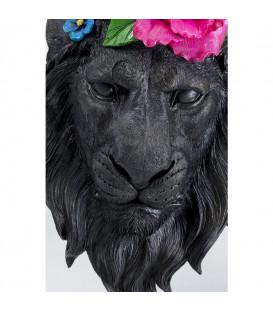Objeto decorativo Máscara Lion Flower
