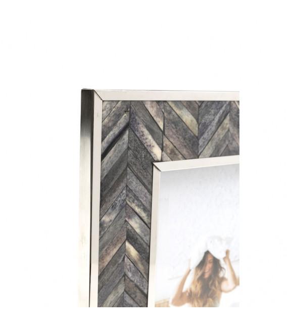 Marco Chevron gris 13x18cm