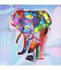 Cuadro Wildlife Elefante 80x80cm