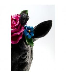 Objeto decorativo Máscara Jirafa Flower