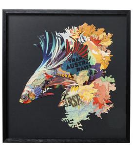 Cuadro Art Betta Fish Colore izquierda 65x65cm