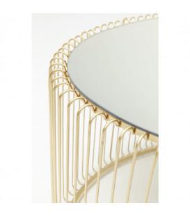 Mesa centro Wire Uno oro 60x90cm