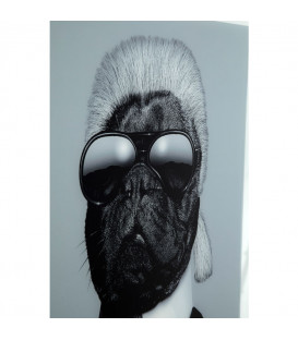 Cuadro espejo Designer Dog 60x60cm