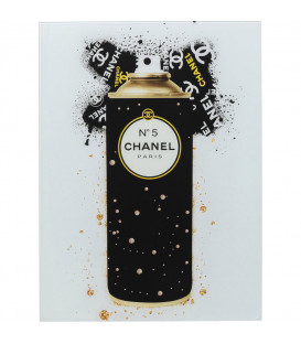Cuadro cristal Coco Oro Spray 60x80cm