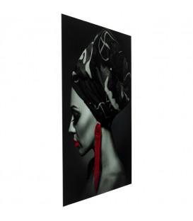 Cuadro cristal Lady Red Earrings 120x80cm