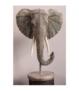 Objeto Deco Elephant Head Pearls 76cm