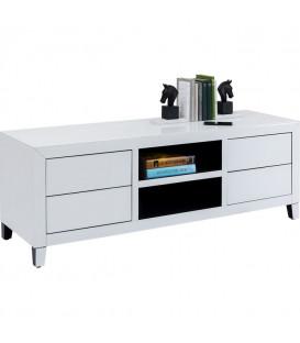 Mueble TV Luxury Push Blanco 140cm
