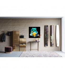 Cuadro cristal Aqua Queen Fish 100x100cm