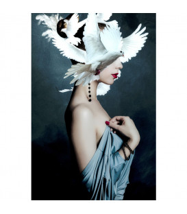 Cuadro cristal Mother of Doves 120x80cm