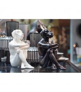 Figura decorativa Gangster Dog negro