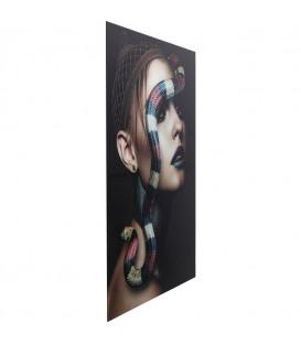 Cuadro Cristal Snake Girl 120x80cm