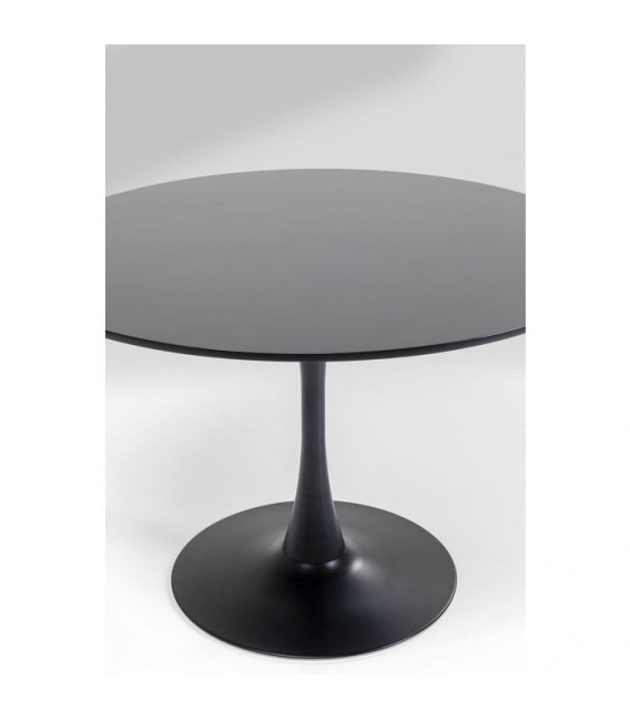 Mesa comedor redonda Schickeria negro Ø110cm